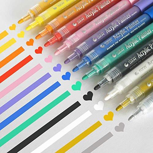 Acrylic Paint Markers Set - Permanent Paint Pens