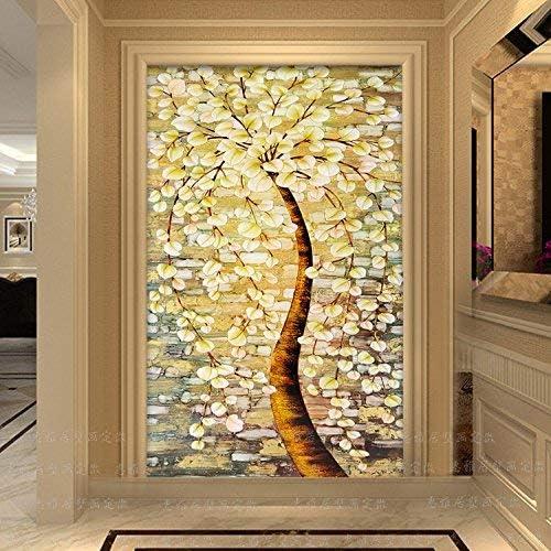 Amazon Com Zxcv Wallpaper 3d Seamless Large Murals Living Room Sofa Wallpaper Hallway Corridor Corridor Background Wallpaper Oil Painting Tree 250cmx175cm Sports Outdoors