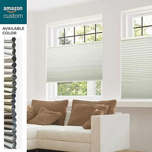 CHICOLOGY Custom Made Cordless Cellular Shades, Winter White (Blackout) Inside Mount,W:44' xH:48'