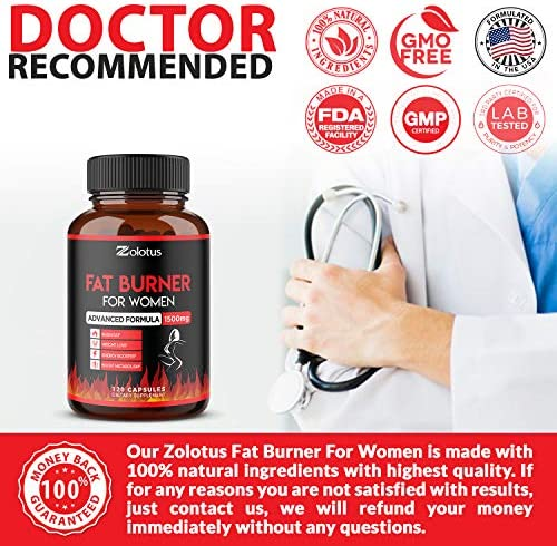 Natural Weight Loss Pills for Women, The Best Belly Fat Burners for Women and Men, Metabolism Booster, Energy Pills, Appetite Suppressant, Highest Potency with Green Tea Extract 98%, 120 Capsules 7