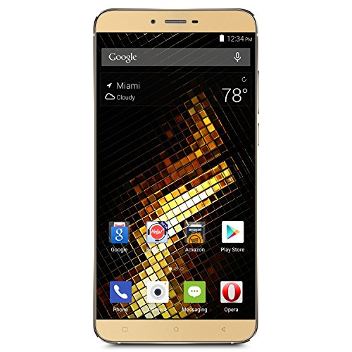 "BLU VIVO 5 Smartphone -5.5"" 4G LTE GSM Unlocked - 32GB +3GB RAM - Gold"