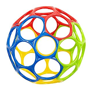 """Get a Grip on Playtime. The Oball Classic is the most perfect ball ever created! At 4"""" in diameter, this award-winning flexible design allows babies of all ages to grip, catch, and throw a ball with ease. Soft construction and 32 large finger holes m..."""