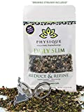 Daily Slim by Physique Tea | Detox Cleanse and Weight Loss Teatox with Appetite Suppressant Garcinia Cambogia | Skinny and Increase Energy | No Senna Laxatives or Pills | Free Strainer Inside