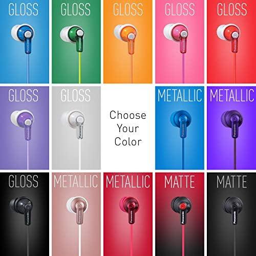 Panasonic ErgoFit In-Ear Earbud Headphones RP-HJE120K Dynamic Crystal-Clear Sound, Ergonomic Comfort-Fit, 9mm, Black 15