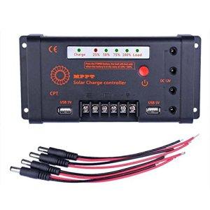 Sun YOBA MPPT Solar Charge Controller Solar Controller 10A 12V/24V 100V Input & DC USB