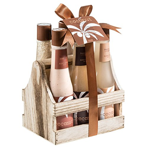 Tropical Milky Coconut bath and body spa gift set-This