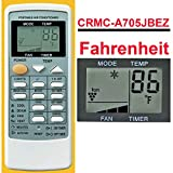 Replacement for Sharp Portable Air Conditioner Remote Control CRMC-A705JBEZ for CV-P09LX CV-P10LC CV-P10MC CV-P10NC CVP10NC-D CVP10NC-R CV-P10PC CVP10PC-D CVP10PC-R CV-P10RC (Display in Fahrenheit)