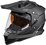 Castle X Mode Dual-Sport SV Snowmobile Helmet (XLG, Matte Black)