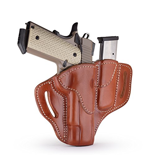 1791 GUNLEATHER Combo 1911 Holster and Mag Pouch, Right Hand OWB Leather  Gun and Mag Holster for Belts fits All 1911 Models with 4