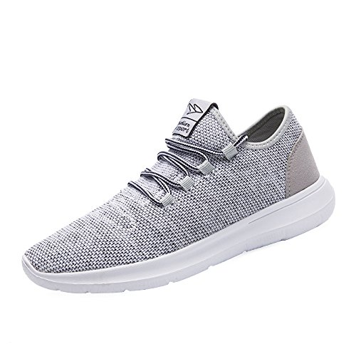 KEEZMZ Men's Running Shoes Fashion Breathable Sneakers Mesh Soft Sole Casual Athletic Lightweight Gray-43