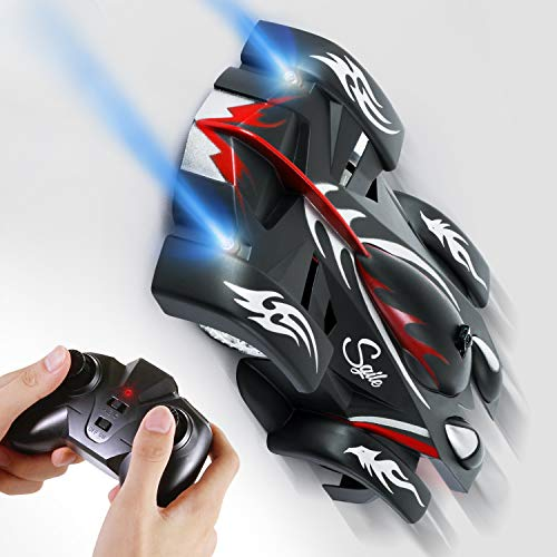 SGILE Rc Cars Toy, Wall Climbing Remote Control Car - Dual Mode 360° Rotating LED Head Stunt Car, Birthday Present Gift for Kids [Copy Right Reserved]