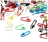 Safety Pins - 1000-Pack Mini Plastic Safety Pins, Small Pins for Knitting, Crochet, Quiltng, and Sewing, 6 Assorted Colors, 0.87 x 0.2 Inches