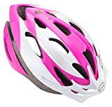 Schwinn Thrasher Lightweight Microshell Bicycle Helmet Featuring 360 Degree Comfort System with Dial-Fit Adjustment, Adult, Pink/White