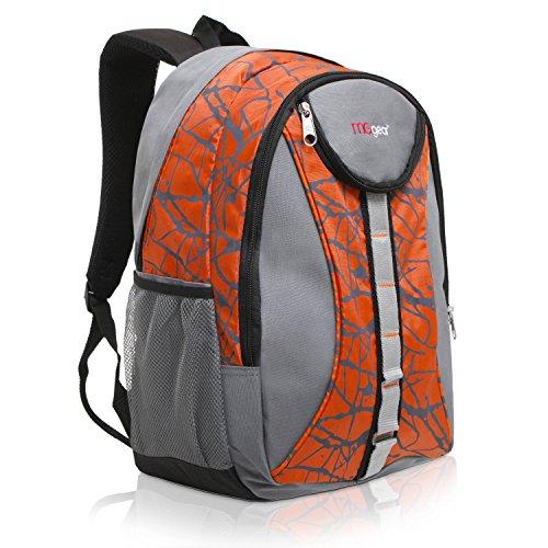 18 Inch MGgear Student Bookbag Children Sports Backpack / Travel Carryon, Orange
