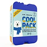 [NEW] Ice Packs for Lunch Box - Freezer Packs - Original Cool Pack | Slim & Long-Lasting Ice Pack for your Lunch or Cooler Bag (4pk)