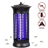 NoBug Bug Zapper Electric Indoor Insect Killer w/UV Light | Mosquito Bug Fly Pests Attractant Trap Zapper Lamp w/Powerful 1000V Grid for Indoor Home Bedroom (Bug Zapper) (Black)