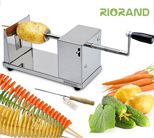 RioRand Manual Stainless Steel Twisted Potato...