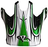 Vega Off-Road Helmet Visor with NBX-Pro Scorch Graphic (Green, Size Adult)
