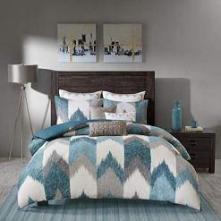 Teal Blue Southwestern Bedding Set