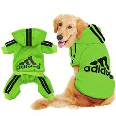 Scheppend-Original-Adidog-Big-Dog-Large-Clothes-Sport-Hoodies-Sweatshirt-Pet-Winter-Coat-Retriever-Outfits-Green-6XL