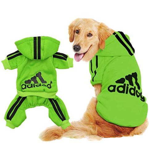Scheppend-Original-Adidog-Big-Dog-Large-Clothes-Sport-Hoodies-Sweatshirt-Pet-Winter-Coat-Retriever-Outfits-Green-5XL