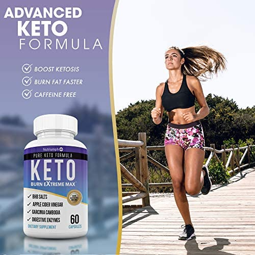 Keto Burn Extreme Max Fat Burner Diet Pills- Ketogenic Weight Loss for Women and Men- Ketosis Supplement with BHB Salts & Apple Cider Vinegar- 30 Day Supply 5