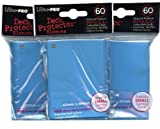 Ultra Pro Card Supplies YuGiOh Sized Deck Protector Sleeves Light Blue 60 Count x3