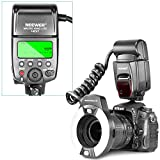 Neewer Macro TTL Ring Flash Light with AF Assist Lamp for Nikon D7200 D7100 D7000 D5500 D5300 D5200 D5100 D5000 D3300 D3200 D3100 D3000 D700 D600 D500 D90 D80 D70 D60 D50 and Other Nikon DSLR Cameras