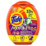 Tide Pods Liquid Laundry Detergent Pacs Spring Meadow, 96 Count - Packaging May Vary