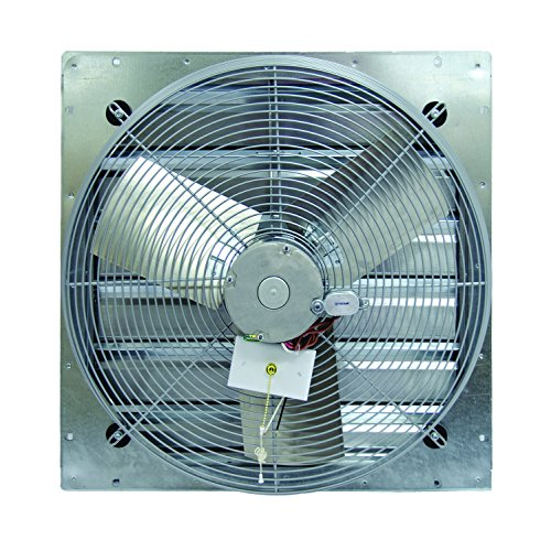 TPI Corporation CE30-DS Direct Drive Exhaust Fan, Shutter Mounted, Single Phase, 30' Diameter, 120 Volt