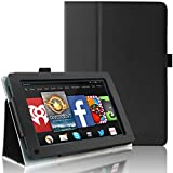 HOTCOOL Kindle Fire 2011 Tablet Case Slim Folding Stand Cover for Amazon Original Kindle Fire (Previous 1st Generation 2011) Tablet, Black