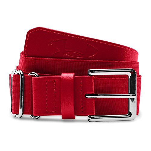 Under Armour Boys' Baseball Belt, Red/Red, One Size