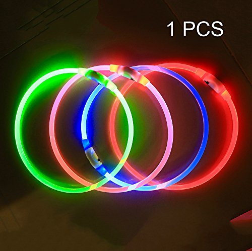 Bseen Led Dog Collar Usb Rechargeable Glowing Pet Dog