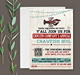 Crawfish Boil Party Invitation with Envelopes - Set of 10