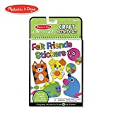 Melissa & Doug On-the-Go Felt Friends Craft Activity Set, Step-By-Step Illustrated Instructions, Easy to Store, 188 Felt Stickers, 10'' H x 6'' W x 0.4'' L