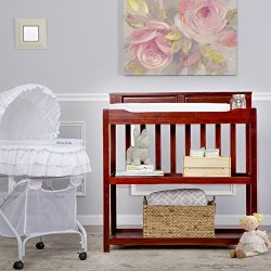 Dream On Me Zoey 3 in 1 Convertible Changing Table, Cherry