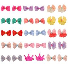 pony-princess-Dog-Bows-Hair-Accessories-with-Clip-Pet-Grooming-Products-Puppy-Small-Bowknot-Handmade-Mix-Styles-Small-Middle-Hair-Bows-Topknot-30PCS15Pairs