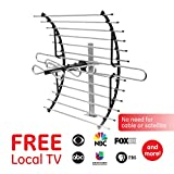 GE Pro Attic Mount TV Antenna, Attic, Long Range Antenna, Directional Antenna, Digital, HDTV Antenna, 4K 1080P VHF UHF, Compact Design, Mounting Pole Included, 33692