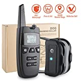 Deyace Dog Training Collar, Rechargable & Waterproof 1800FT Remote Dog Shock Collar with Beep, Vibration and Shock Electronic Collar for Dogs Small, Medium, Large Size, All Breeds