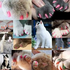 VICTHY-140pcs-Cat-Nail-Caps-Colorful-Pet-Cat-Soft-Claws-Nail-Covers-for-Cat-Claws-with-Glue-and-Applicators