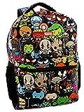 Marvel Kawaii Avengers Boys Girls 16' School Backpack (One Size, Black/Multi)