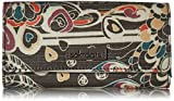 Sakroots Snap Trifold Wallet, shadow songbird
