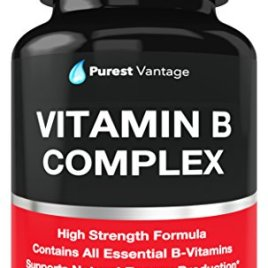 Vitamin B Complex Vitamins B12, B1, B2, B3, B5, B6, B7, B9, Folic Acid – Super B Complex Vitamins for Women, Men, Adults – Aids in Energy, Stress, and Immunity – 90 Vegetarian Capsules