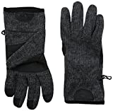 Timberland Men's Ribbed Knit Wool Blend Glove with Touchscreen Technology, Charcoal, Medium