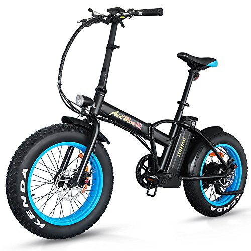 Addmotor MOTAN Electric Bikes 20Inch Fat Tire 500W 48V Lithium Battery 3 Colors Folding Mountain Snow Beach Electric Bicycles M-150 E-bike(Blue)