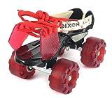 Dixon CWGE Aluminum Roller Skates, Kids (Maroon)