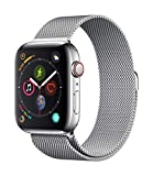 Apple Watch Series 4 (GPS + Cellular, 44mm) - Stainless Steel Case with Milanese Loop