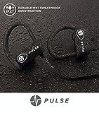 Headphones, 2018 Wireless Earbuds for Sports Activities, Running, Gym. 8 Hour Battery, Ipx7 Waterproof, Sweatproof, Noise Cancelling Earphones W/Mic. 1-Year Warranty (Black)