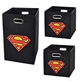 Superman Logo Storage and Laundry Bundle Pack, Black