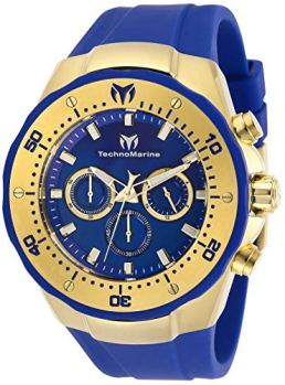 Technomarine Men's Manta Sea Stainless Steel Quartz Watch with Silicone Strap, Blue, 30 (Model: TM-218031)